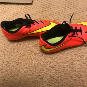 buy online 7c17a 07d03 Nike Shoes - orange pink neon soccer cleats